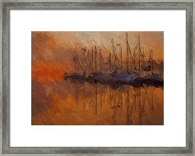 Evening At The Lake Framed Print by Steve K