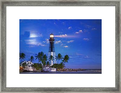 Evening At The Lighthouse Framed Print by Mark Andrew Thomas