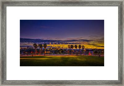 Evening At The Park Framed Print by Marvin Spates