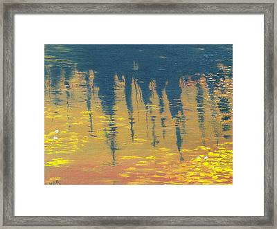 Evening At The Pond Framed Print by Conor Murphy