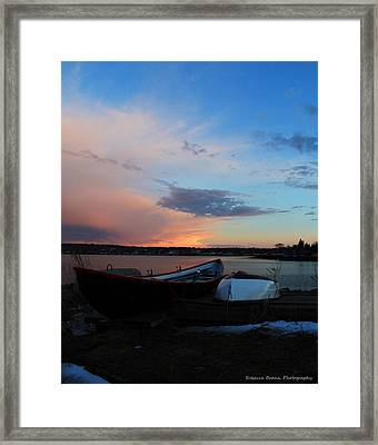Evening At The Shore Framed Print by Becca Brann