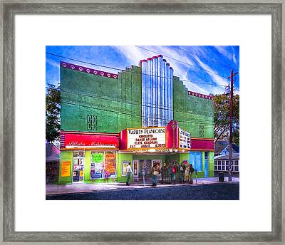 Evening At The Variety Playhouse - Atlanta Framed Print by Mark E Tisdale