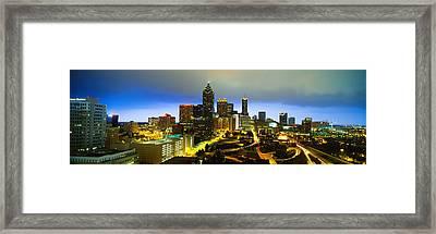 Evening Atlanta Ga Framed Print