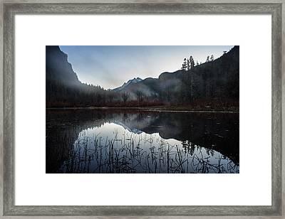 Evening Autumn Mist Framed Print