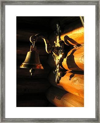 Framed Print featuring the photograph Evening Bell by Leena Pekkalainen