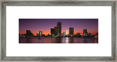 Evening Biscayne Bay Miami Fl Framed Print by Panoramic Images