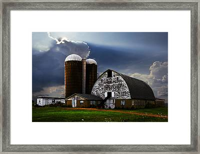 Evening Blessing Framed Print by Debra and Dave Vanderlaan