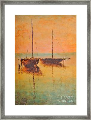 Evening Boats Framed Print by Martin Capek