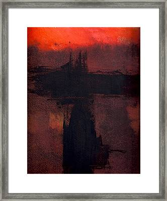 Evening Bridge Framed Print