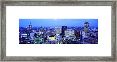 Evening, Buffalo, New York State, Usa Framed Print