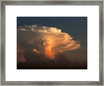 Framed Print featuring the photograph Evening Buildup by Charlotte Schafer