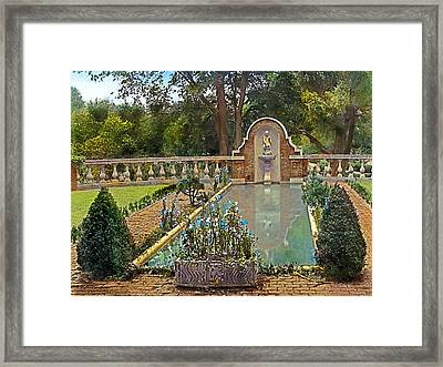 Evening By The Pool Framed Print by Terry Reynoldson