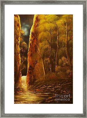 Evening Calm-original Sold-buy Giclee Print Nr 30 Of Limited Edition Of 40 Prints  Framed Print