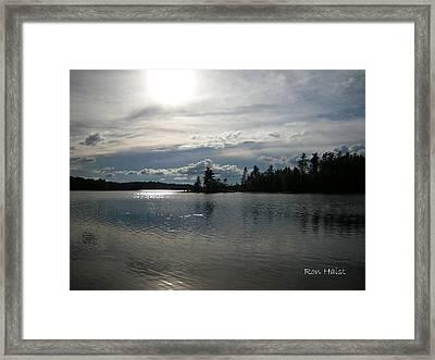 Evening Calm Framed Print by Ron Haist