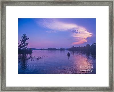 Evening Canoeing  Framed Print