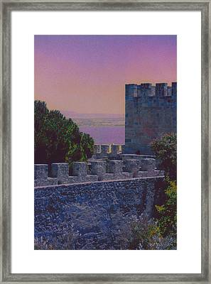 Evening Castle Framed Print by Bill Jonas
