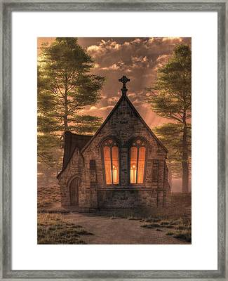 Evening Chapel Framed Print by Christian Art