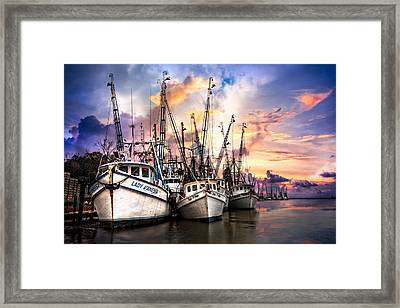 Evening Colors Framed Print by Debra and Dave Vanderlaan
