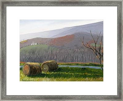 Evening Comes To Penns Valley Framed Print