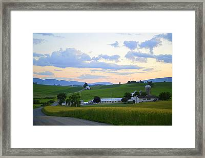 Evening Countryside #1 - Millmont Pa Framed Print