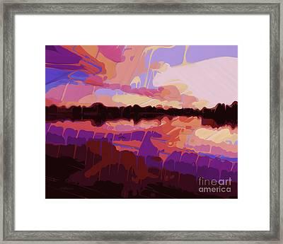 Evening Cove Framed Print by Dorinda K Skains