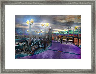 Evening Cruise Lights Framed Print by Betsy Knapp