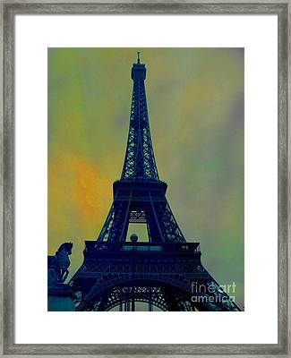 Evening Eiffel Tower Framed Print