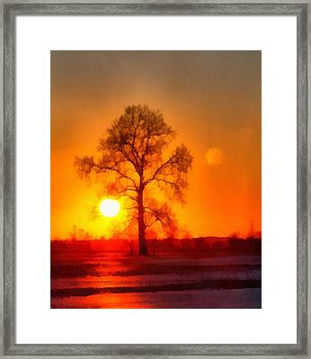 Evening Ember Sunset Framed Print