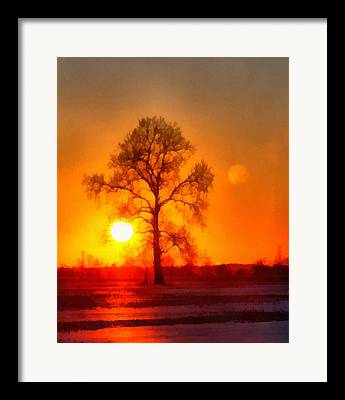 Sunflare Mixed Media Framed Prints