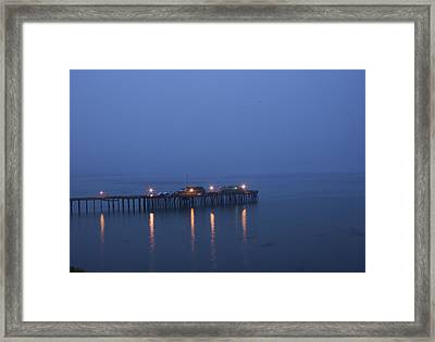Evening Enters Capitola Framed Print by Lora Lee Chapman