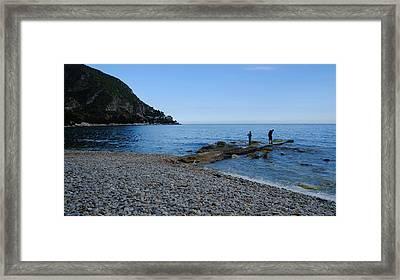 Evening Fishing Framed Print