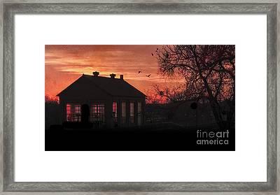 Evening Flight Framed Print by Betty LaRue