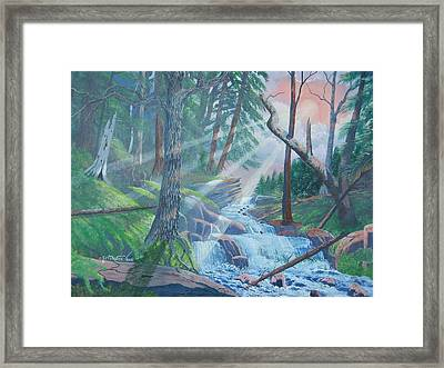 Evening For Godlight Framed Print by Seth Wade