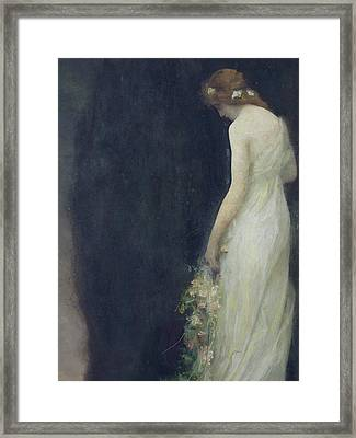 Evening Framed Print by Gabriel-Joseph-Marie-Augustin Ferrier
