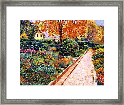 Evening Garden Stroll Framed Print by David Lloyd Glover