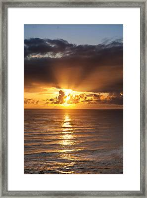 Evening Glow Framed Print by Andrew Soundarajan