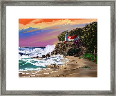 Evening Glow Framed Print by Anthony Fishburne