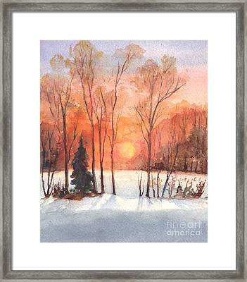 The Evening Glow Framed Print