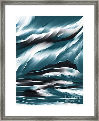 Evening Glow Framed Print by Hilda Lechuga