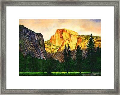 Evening Glow In Yosemite Framed Print