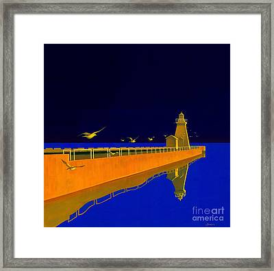 Evening Glow Framed Print by Michael Swanson