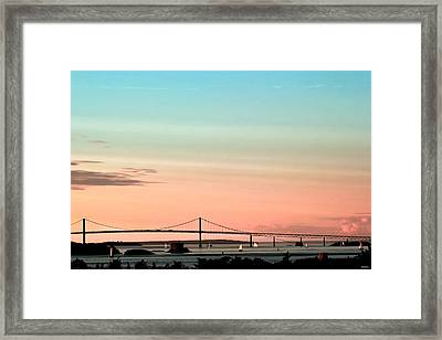 Evening Glow Newport-oil Effect Image Framed Print