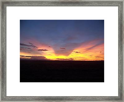 Evening Glow Framed Print by Sheri Keith