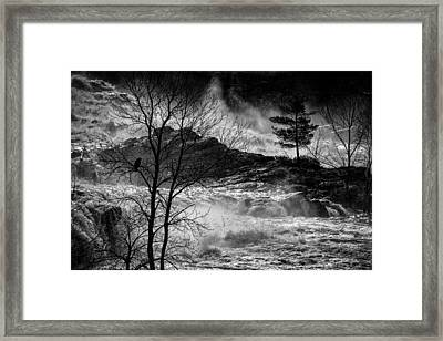 Evening Great Falls Maine Framed Print by Bob Orsillo