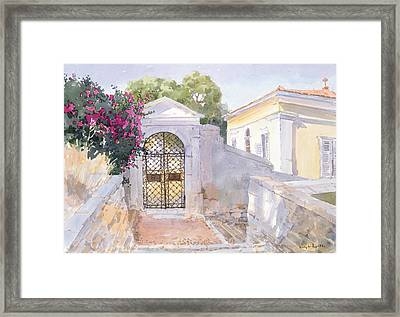 Evening Hroussa Framed Print by Lucy Willis