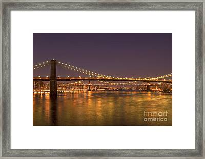 Evening II New York City Usa Framed Print by Sabine Jacobs