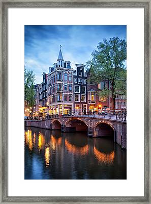 Evening In Amsterdam Framed Print