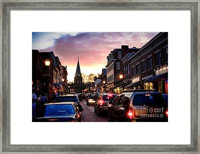 Evening In Annapolis Framed Print