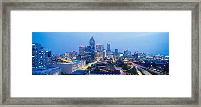 Evening In Atlanta, Atlanta, Georgia Framed Print by Panoramic Images