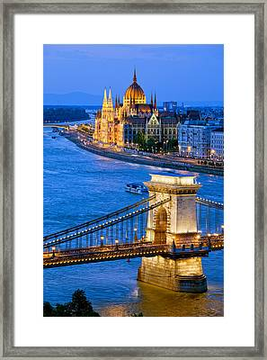 Evening In Budapest Framed Print by Artur Bogacki